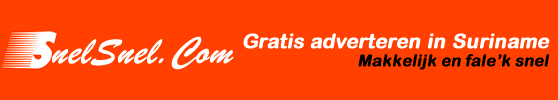 Suriname Advertentie header